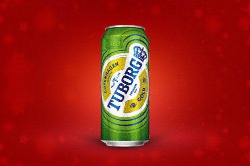 Tuborg Gold Beer Can (330 ml)